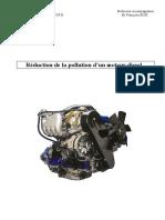 Reduction de La Pollution d Un Moteur Diesel