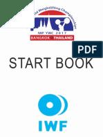 2017 IWF Youth World Championships Start Book