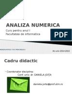 Analiza Numerica-prezentare Curs 2015 v2