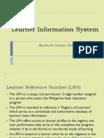 Lis Manual Division Planning