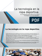 La Tecnología en La Ropa Deportiva