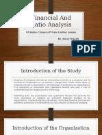 Powerpoint Presentation on Financial & Ratio Analysis of Pharmaceutical Company
