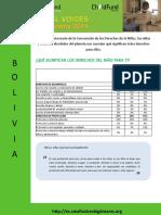 Small Voices Big Dreams 2014 - Resumen datos BOLIVIA