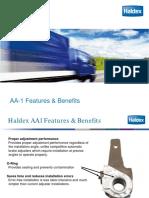 HALDEX Aa1 Features Benefits