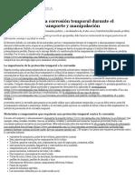 Protección Contra La Corrosión Temporal Durante El Almacenamiento, Transporte y Manipulación