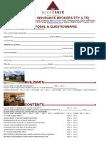 Accensure Domestic Proposal Form