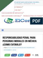 Responsabilidad penal para personas morales en México. ¿Como evitarlo  El Conta punto com