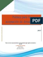 Politica de Donaciones