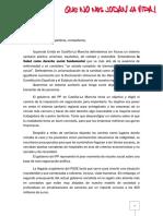 Carta IU CLM Campaña Sanidad 7 y 8 de Abril