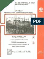 conductores y elementos de conexión en subestaciones electricas