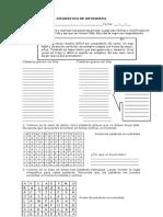Diagnostico de Ortografia Sexto