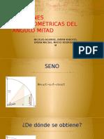 FUNCIONES TRIGONOMÉTRICAS DEL ÁNGULO MITAD