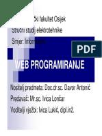 web programiranje