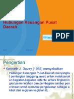 Kuliah 9 Hubungan Keuangan Pusat-Daerah