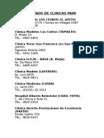 Listado de Clinicas Pami