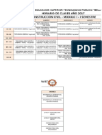 Horario Civil III Modulo 2017