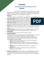Formatos Tv,Radio,Prensa,Revistas