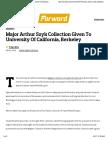 Major Arthur Szyk Collection Given To University Of California, Berkeley   The Forward