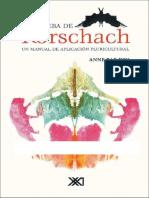 La Prueba de Rorschach