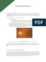 Patologías Retina