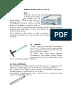 Herramientas e Instrumentos Para Dibujo Tecnico