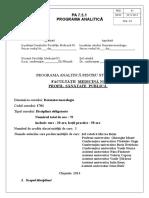 Programa Analitica MG Ro ISO