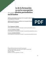 Influencia de la formación académica en la concepción de la profesión periodística en Ecuador