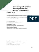 Formación de la agenda pública sobre temas experienciales en Santiago de Cuba durante el año 2015