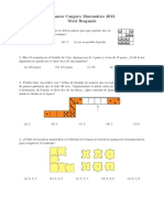 Examen Canguro Matematico Nivel Benjamin 2012
