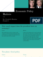 president economic policy matters