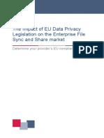 The Impact of EU Data Privacy Legislation on the Enterprise File Sync and Share Market