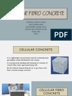 Cellular Fibro Concrete
