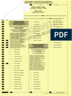Potter County sample ballots - all