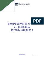 Manual Partes Mercedes Actros 4144K