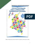 Política cultural para la educación superior-julio 25 de 2013-versión IES (1)