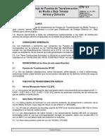 ETN 101 10-01 Montaje de Puestos de Transformación