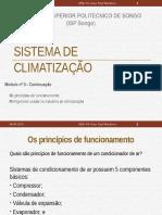 Modulo II Continuação Objectivo de Climatização