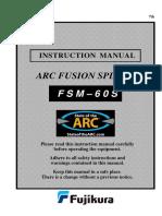 Manual Fusionadora 60s