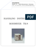 Manual Roddryer TK8