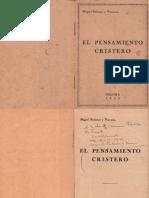 El Pensamiento Cristero Miguel Palomar y Vizcarra