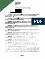 Commissioner Order 2 3-17-17