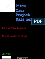 pitch your  project - michael solorzano