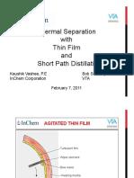 Thin Film Short Path Distillation