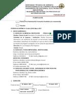 1. Planfificación Prácticas F01 Bologna