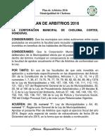 Plan de Arbitrios Choloma 2016 PDF