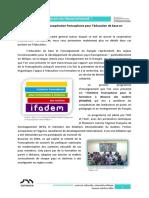 Séance 4 - D. Les Actions de Coopération Francophone Pour l'Éducation de Base en Français