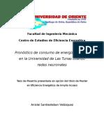 Pronóstico de consumo de energía eléctrica en la Universidad de Las Tunas usando redes neuronales