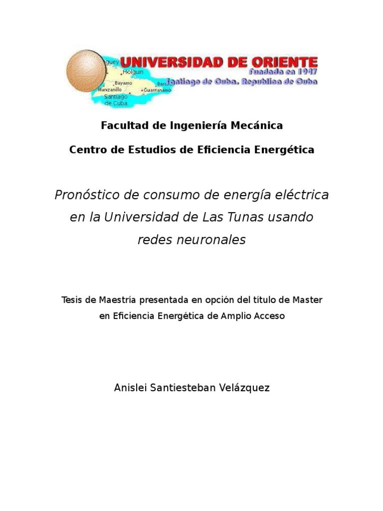 Pronóstico de consumo de energía eléctrica en la Universidad de Las ...