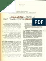 La Educación Nutricional en La Comunicación Sobre La Salud