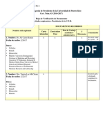 Tabla de los solicitantes para presidir la UPR
